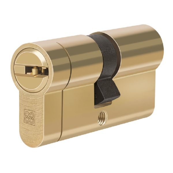 Cilindro de seguridad. Mod.  MPRO. Laton. 31x10 mm.