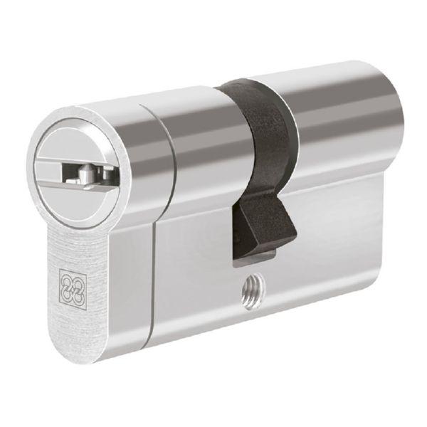 Cilindro de seguridad. Mod. MPRO. Niquel. 40x40 mm.